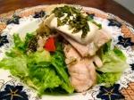 rice chicken pizza top salad