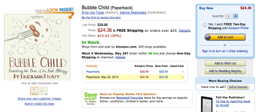 Amazon.com screenshot Bubble Child