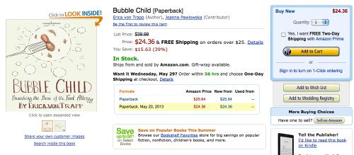 Amazon.com screenshot Bubble Child