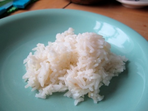 fluffy rice olive oil