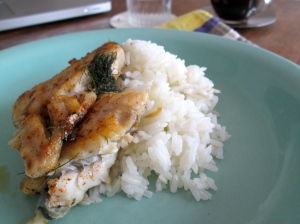 rice and fish
