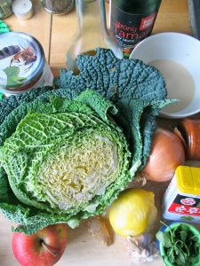cabbage and asian ingredients