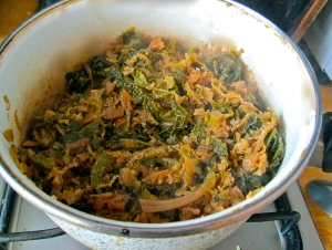 finished braised cabbage
