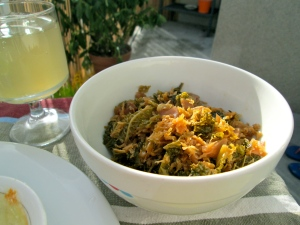 ginger braised cabbage