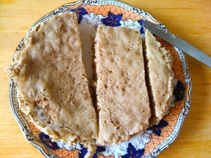 steamed buckwheat loaf