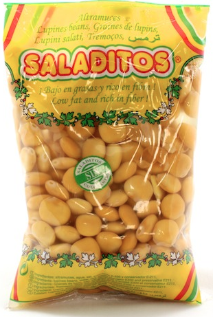 salted lupin beans