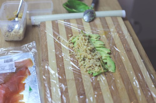 millet-and-avocado-on-cutting-board